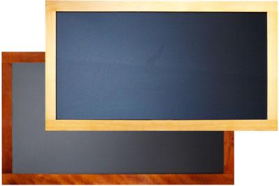 Große Wandtafel mit Rahmen aus Buchenholz