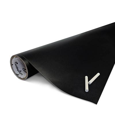 Schwarze Tafelfolie für glatte Flächen